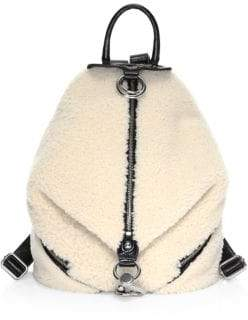 Rebecca Minkoff Julian Shearling Side-Zip Backpack