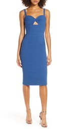 Dress the Population Eve Sweetheart Twist Front Sleeveless Midi Sheath Dress
