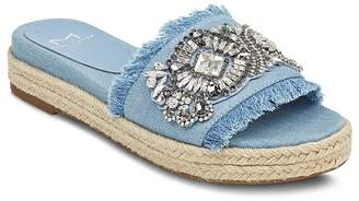 Marc Fisher Women's Jelly Embellished Chambray Espadrille Slide Sandals