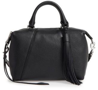 Rebecca Minkoff Small Isobel Leather Satchel - Black $295 thestylecure.com