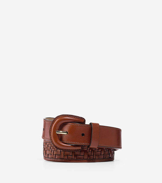 Cole Haan  Genevieve Weave Leather Belt