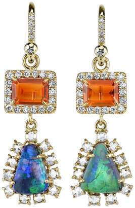 Irene Neuwirth diamond tear drop earrings