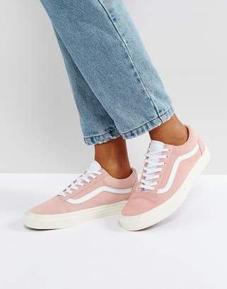 Vans Old Skool Sneakers In Pink $66 thestylecure.com