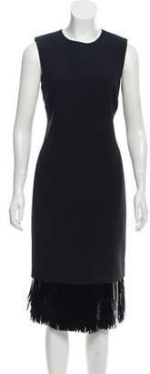 Jason Wu Sleeveless Embellished Knee-Length Dress