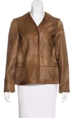 Marni Calf Hair Collarless Jacket