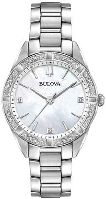Bulova Women's 1/10 ct tw Diamond Case Watch