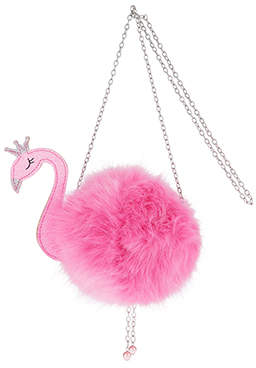 Monsoon Crazy Fluffy Flamingo Bag