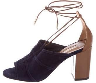 Aquazzura Very Eugenie Lace-Up Sandals