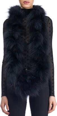 Gorski S-Cut Fox Fur Knit Infinity Scarf