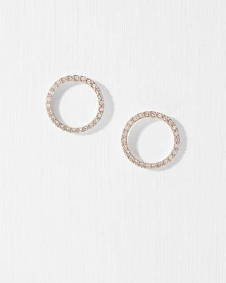 Ted Baker LEEIZA Lunar circle Swarovski crystal earrings