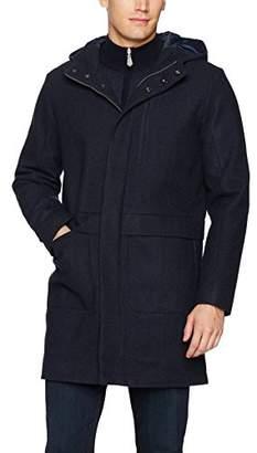 Calvin Klein Men's 3/4 Length Wool Hooded Jacket