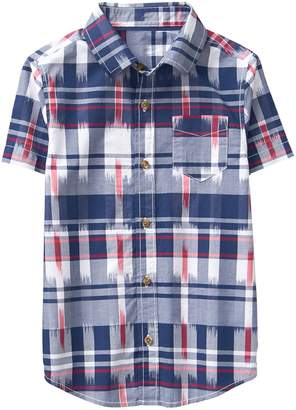 Crazy 8 Crazy8 Ikat Plaid Shirt