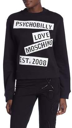 Love Moschino Girocollo St. Psychobilly Pullover