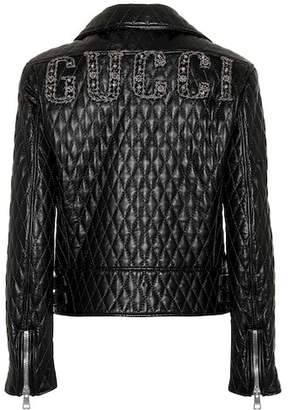 Gucci Matelassé leather jacket