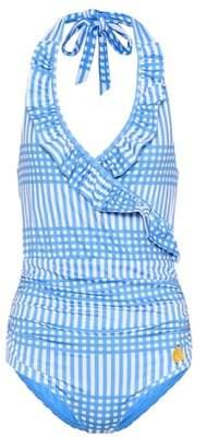 Exclusive to mytheresa.com – Aroa printed halterneck swimsuit