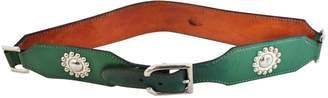 Laffargue Green Leather Belts