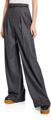 Gabriela Hearst Vargas Cashmere Pleated Pants