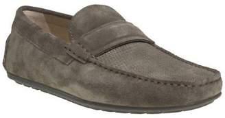HUGO New Mens Brown Grey Dandy Mocc Suede Shoes Driving Slip On