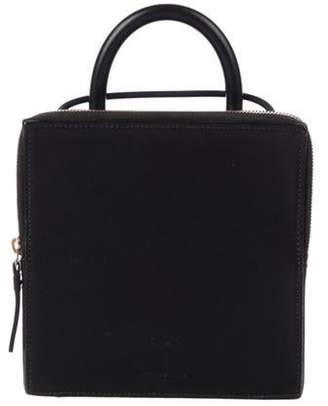 Building Block Leather Box Bag Black Leather Box Bag