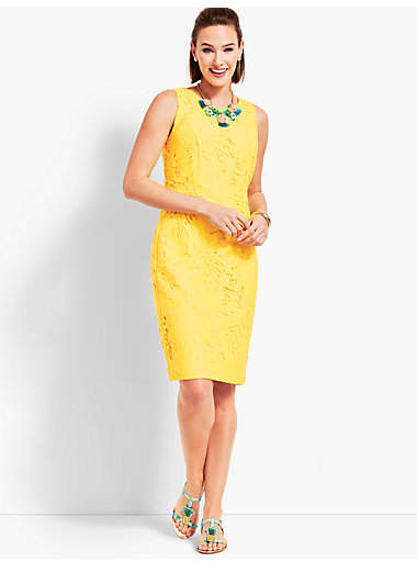 Talbots Leaf-Lace Sheath Dress