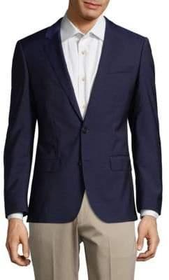 HUGO BOSS Notch Lapels Wool Jacket