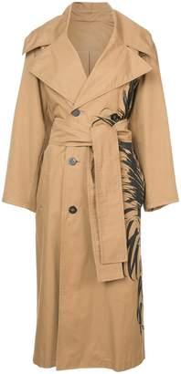 Oscar de la Renta belted trench coat