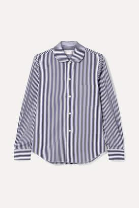 Comme des Garcons Striped Cotton-poplin Shirt - Navy
