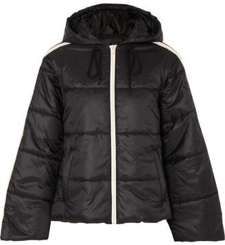 Gucci Hooded Quilted Shell Jacket - Black