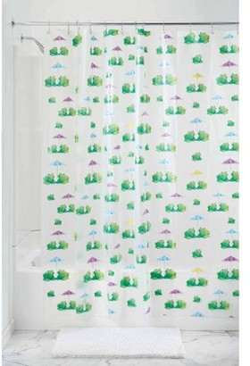 """InterDesign Frogs Frosted PEVA Shower Curtain, 72"""" x 72"""""""