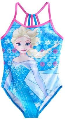 Disney Disney's Frozen 4-6x Elsa Racerback One-Piece Swimsuit