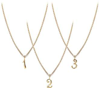 Lulu Frost CODE Number Diamond Necklace 18k Gold