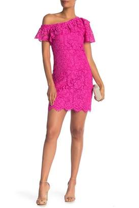 Trina Turk Glorieta Off-the-Shoulder Lace Dress