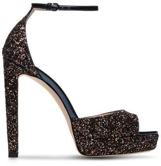 Jimmy Choo Pattie 130 glitter platform sandals