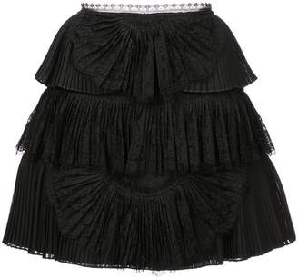 Alice + Olivia Alice+Olivia Iggy tiered mini skirt