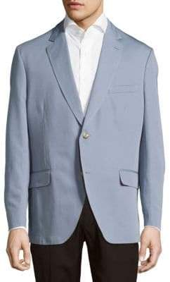 Kroon Taylor Solid Cotton & Linen Sportcoat