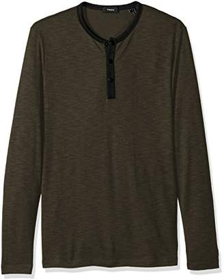 Theory Men's Front Snap Ringer Henley