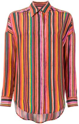 Alberto Biani striped shirt