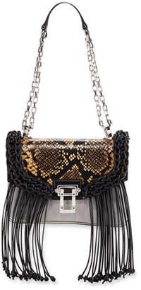 Proenza Schouler Hava Python-Embossed Shoulder Bag