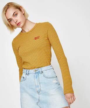 Insight Frequency Stripe Long Sleeve T-Shirt Mustard