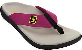 Spenco Orthotic Memory Foam Thong Sandals-Pure