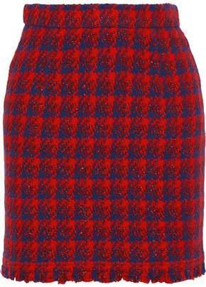 IRO Quisera Metallic Houndstooth Tweed Mini Skirt