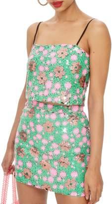 Topshop Flower Sequin Camisole