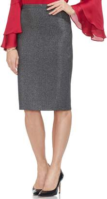 Vince Camuto Sparkle Ponte Pencil Skirt