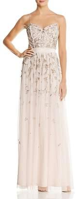 Aidan Mattox Embellished Bustier Gown
