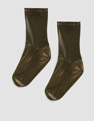 Darner Mesh Sock in Gold Foil