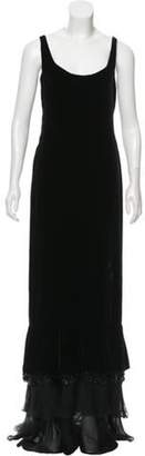 Valentino Velvet Silk Dress Black Velvet Silk Dress