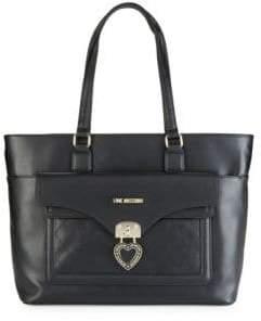 Love Moschino Borsa Heart Locket Tote Bag