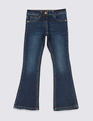 Marks and Spencer Cotton Flare Jeans with Stretch (3-14 Years)