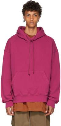 Juun.J Pink Panelled Hoodie