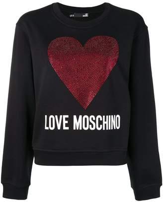 Love Moschino metallic heart logo sweatshirt